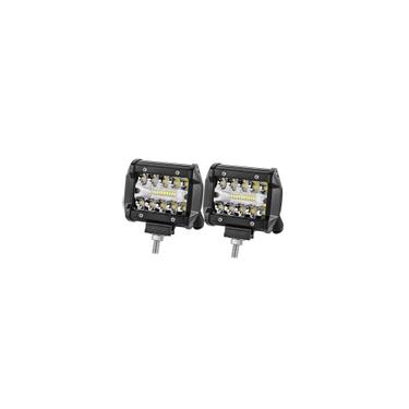 4pcs 800 W 4 polegadas LED Tri-Row Work Light Bar 6000K Spot Flood Combo Lâmpada de direção para Jeep Truck Barco Offroad suv 2PCS 400W