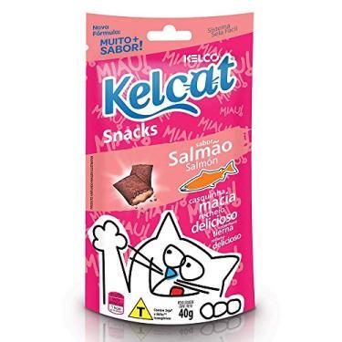 Snack Kelcat para Gatos Adultos e Filhotes Sabor Salmão 40g - 1 unidade
