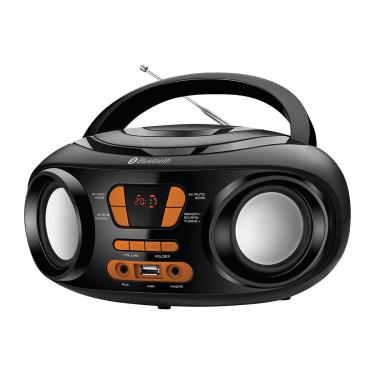 Rádio Portátil Mondial Boom Box Bx-19 Rádio Fm Bluetooth E Entrada Usb Preto/Laranja ¿ Bivolt