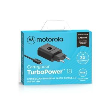 Carregador Turbo Motorola Original 18w Moto G5s Plus Garantia Resistente Carga Rápida Micro Usb
