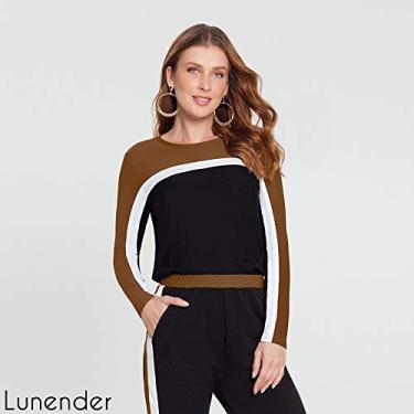 Blusa manga longa crepe com viscose - Lunender 60090