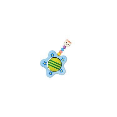 Imagem de Chocalho De Madeira Bonito Da Estrela Que Agarra O Brinquedo Da Atividade De Madeira Do Bebê/criança