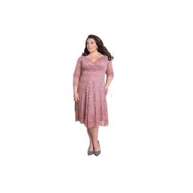 Vestido Renda Plus Size Noiva Formatura Civil Madrinha Festa
