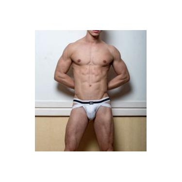 Cueca Jockstrap Dio Collection Branco/listrado