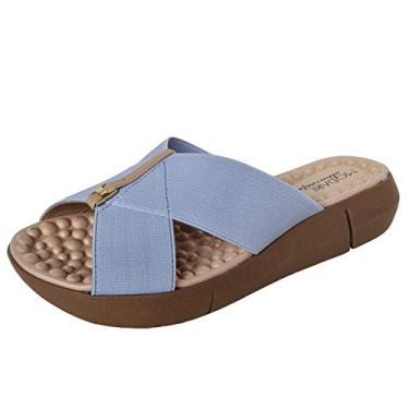 Tamanco Ultraconforto Modare 7142.101 Cor:Azul claro;Tamanho:36