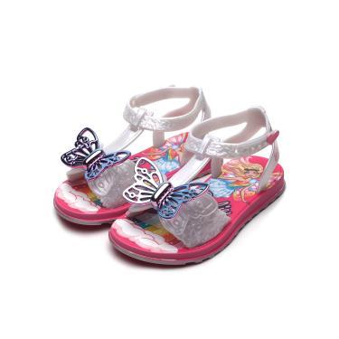 Sandália Grendene Kids Infantil Barbie Borboleta Branco/Rosa Grendene Kids 22213 menina
