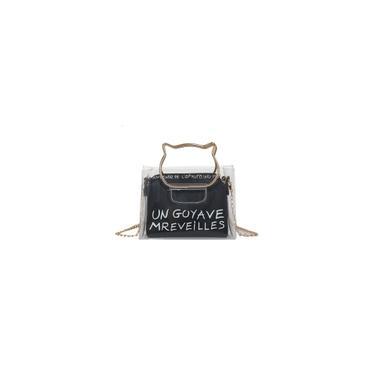 Carta pacote bolsa de praia Jelly menina Messenger Bag Fada Transparente Quadrado pequeno
