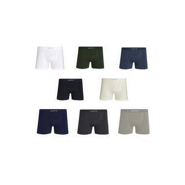Kit Com 6 Cuecas Boxer Micromodal Sem Costura - Lupo 661-001