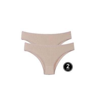 Kit 2 Calcinha de Algodão Bege Comfort Cotton Feminina A10