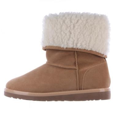 Bota de Pelos Damannu Shoes Bege/Branco  feminino