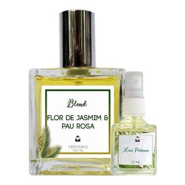 Imagem de Perfume Flor de Jasmim & Pau Rosa 100ml Feminino - Blend de Óleo Essencial Natural + Perfume de presente