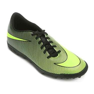 Imagem de Chuteira Society Nike Bravata 2 Tf - Preto E Verde Limão