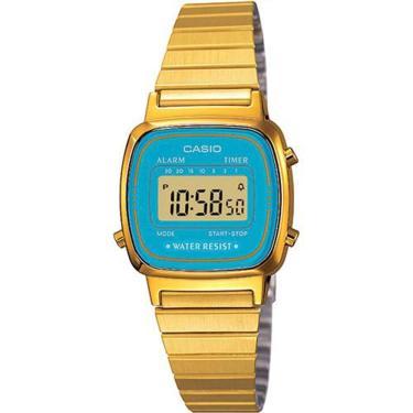 Relógio de Pulso Feminino Digital Lux Golden    Joalheria   Comparar preço  de Relógio de Pulso - Zoom d2b21ba4cd