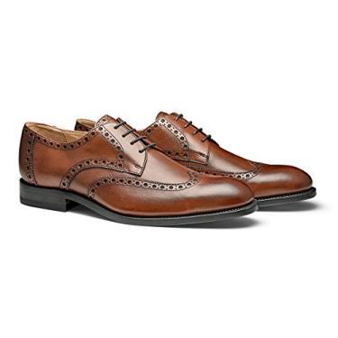 Moral CODE The Holden: Sapato social masculino de couro feito à mão com ponta de asa, Cognac Leather, 11