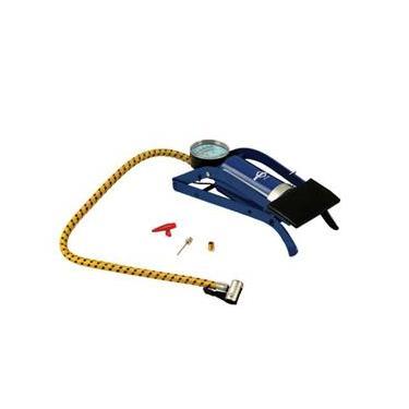 Bomba de Ar Pedal com Manômetro Azul - Brasfort