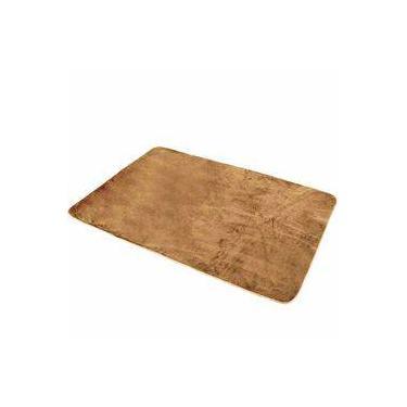 Tapete Liso Para Quarto E Sala Tecido De Pelúcia 70cm X 50cm - Caramelo