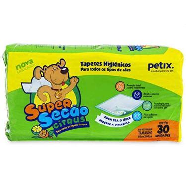 Super Secão Citrus Tapete Higiênico Petix para Cães - 30 Unidades - 30 unidades