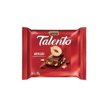 Chocolate Talento 90gr Sabor Avelas