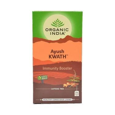 Chá Tulsi Ayush Kwath 25 Sachês Organic India
