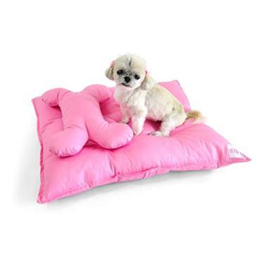 Colchão para Cachorro Pet Conforto Pequeno - P - Rosa - Bichinho Chic