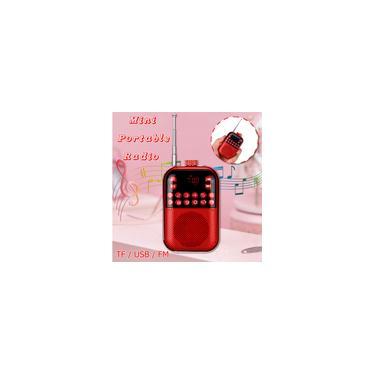 Imagem de Rádio Portátil fm 2.1 Bandas Digital Key Seleção Mini Bolso MP3 tf Receptor USB Alto-falante Exterior