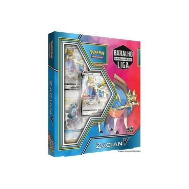Imagem de Box Pokémon Baralho Batalha de Liga Zacian V + Pacote 60 Sleeves Cardgame (protetores de cartas tamanho padrão)