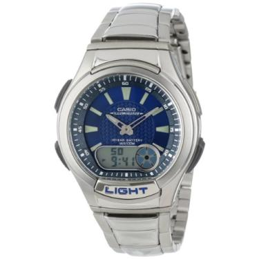 8bbb7fc57a9 Pechinchas-17% Relógio Masculino Anadigi Casio Standard AQ-180WD-2AV - Inox  Azul