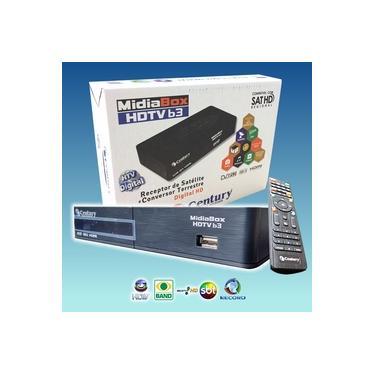 Receptor Parabólica Century Midiabox B3 Digital HD PARA PEGAR +50 CANAIS COMPRE COM LNBF DIGITAL CENTURY