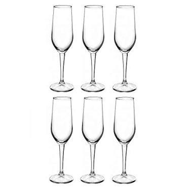 Taça De Champagne 6 Peças Bormioli Riserva Cristalin 205ml