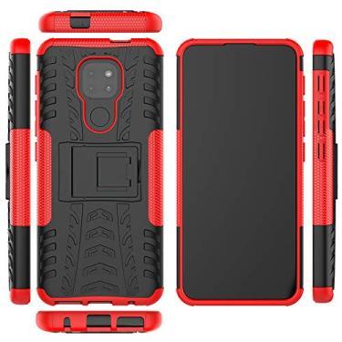 Capa protetora XYX Armor para Motorola G9 Play, 2 em 1 com camada dupla robusta para Motorola Moto G9 Play, vermelha