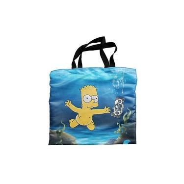 Ecobag Bolsa Sacola De Praia Simpsons Bart Nirvana