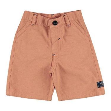 Shorts Look Jeans Alfaiataria Collor - CORAL - M