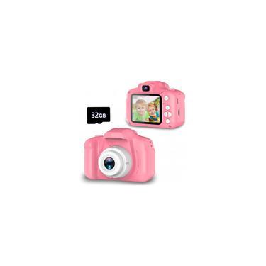 Imagem de Seckton Upgrade Kids Selfie Camera, Presentes de Aniversário de Natal para Meninas de 3 a 9 anos, Câmeras de Vídeo Digital HD para Criança, Brinquedo Portátil para 3 4 5 6 7 8 Anos Menina com 32GB sd Card-Pink