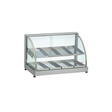 Estufa Para Salgados 8 Bandejas Duplas Vidro Curvo Cinza Edanca - 127v