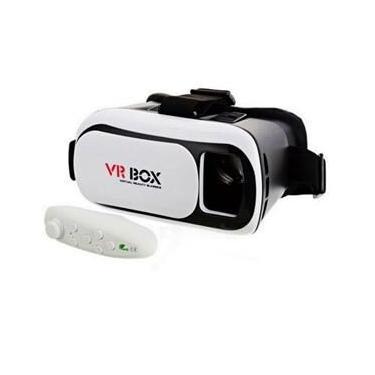 Óculos 3D VR Box Realidade Virtual com Controle - Bluetooth 2.0