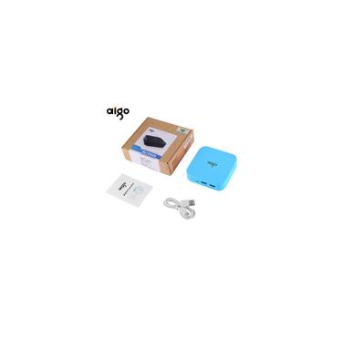 K112 Mini portátil real 10000mAh 3.7V grande capacidade dupla porta USB Power Bank para o telefone móvel para Tablet pc-l