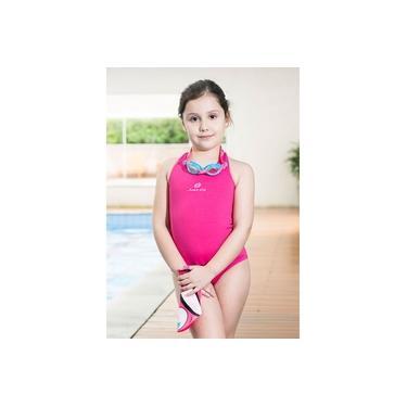 Maiô Infantil Helanca Just Fit / Pink-Rosa / 6