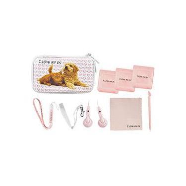Fashion Kit para 3DS XL Pets - Branco/Rosa - Tech Dealer