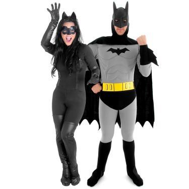 Imagem de Fantasia de Casal Batman e Mulher Gato Adulto