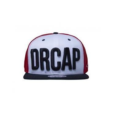 Boné New DRCAP Vermelho Preto Branco Snapback Premium