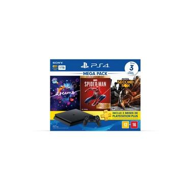 Console Playstation 4 Hits 1TB Bundle 17 - Dreams + Marvel's Spider-Man + Infamous Second Son - PS4