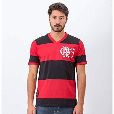 4cbee3ee25 Camisa Flamengo Braziline Lib Rubro Negra Masculino