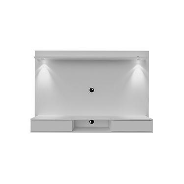 Painel Para Tv Até 46'' Manhattan 180 cm Branco com LEDs e Espelhos - Artely