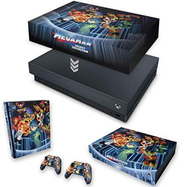 Capa Anti Poeira e Skin para Xbox One X - Megaman Legacy Collection