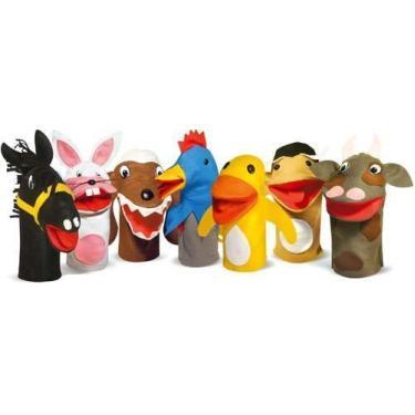 Fantoches De Animais Domésticos Com 7 Personagens Em Feltro