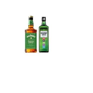 Kit Whiskey Jack Daniel's Apple + Passport Scotch Escocês 1L