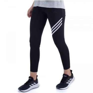 Calça Legging adidas Run It 3 Stripes - Feminina adidas Feminino