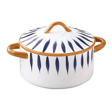 Imagem de Tigelas de Cereal Cerâmicas Tigelas de Sopa de Porcelana com Alça, Panelas de Cerâmica Empilháveis, Adequadas para Sopa de Cebola Francesa, Cereal, Aveia, Chili HOLPPO