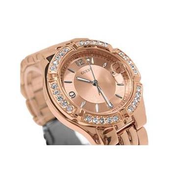 1fbb6908349 Relógio Feminino Guess Rose Tom Ouro Dourado Dazzling Midsize Guess U11069L1