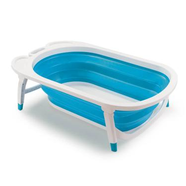 Banheira Dobrável Flexi Bath Azul Multikids Baby - BB172 BB172